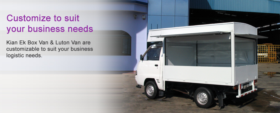Customize to suit your business needs: Kian Ek Box Van & Luton Van are customizable to suit your business logistic needs.